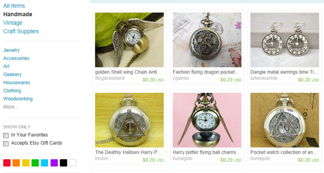 Etsy watches